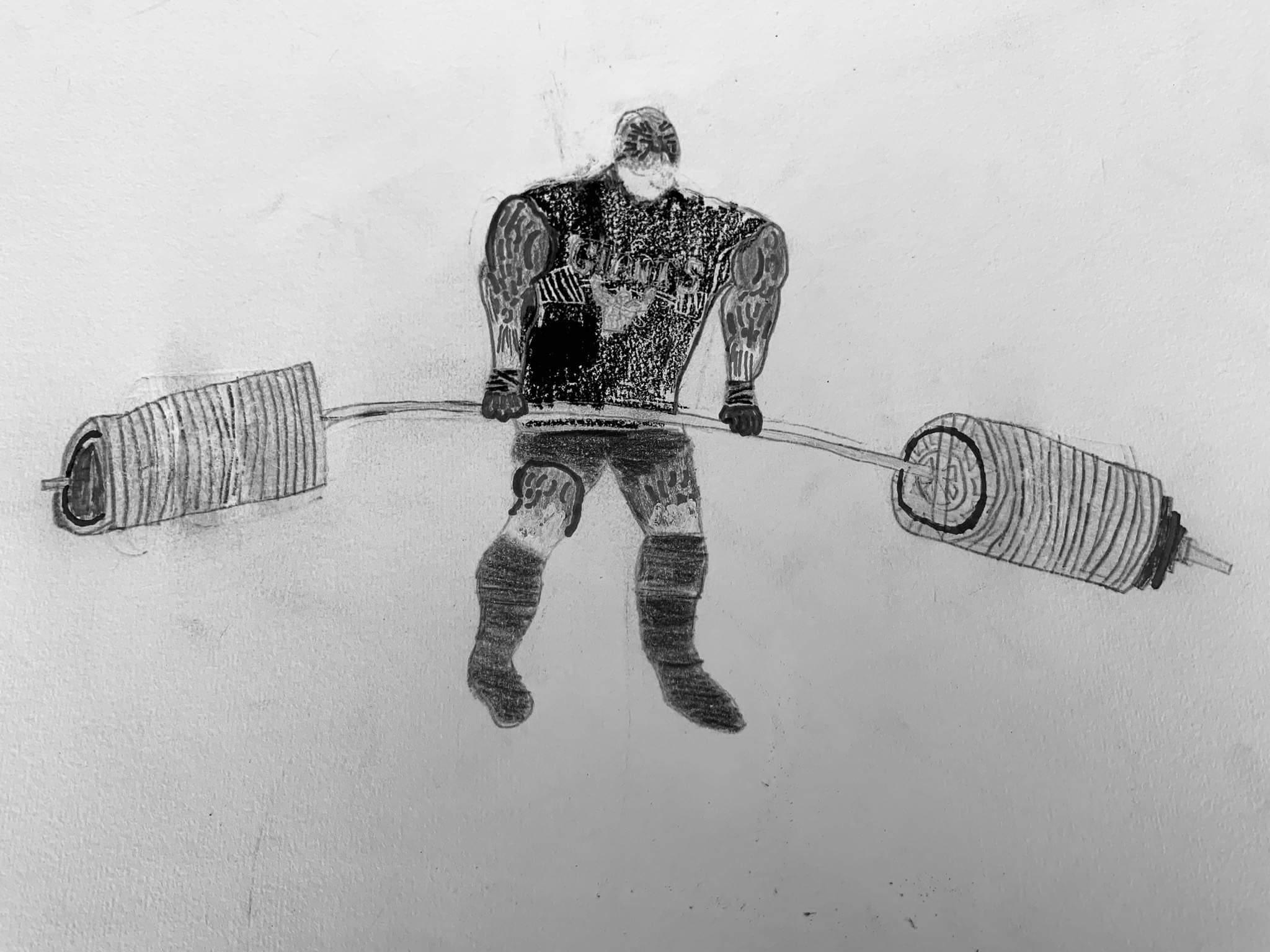 Αγάπη για το Άθλημα της Άρσης Βαρών μέσα από τις Ζωγραφιές του νεαρού Πάρη